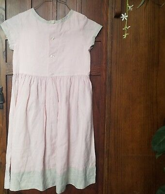 c8ec8ffead7 BONPOINT PLEATED DRESS sun dress linen girls 8 -  9.99
