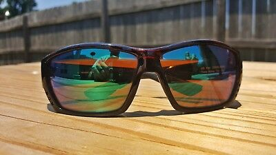 4e53bd55585 Costa Del Mar TUNA ALLEY Sunglasses - Tortoise Frame - Green Mirror 580G  Lens