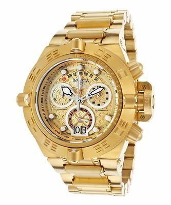 """Invicta 17606 Men's """"Subaqua"""" 18k Gold Plated Stainless Steel Chronograph Watch"""
