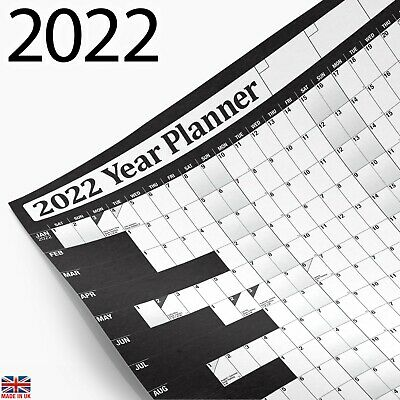 2019 Year Planner Wall Chart with 2020 Calendar ✔inc. Holidays ✔Home,Office,Work