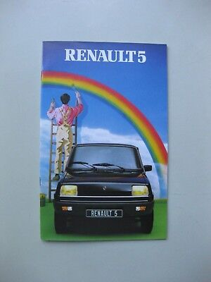 Renault 5 brochure Depliant Prospekt Dutch text 1981 32 pages