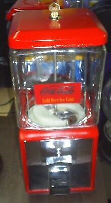 VINTAGE- Coca Cola THEMED Northwestern Candy / Gumball Machine Glass 1 Cent