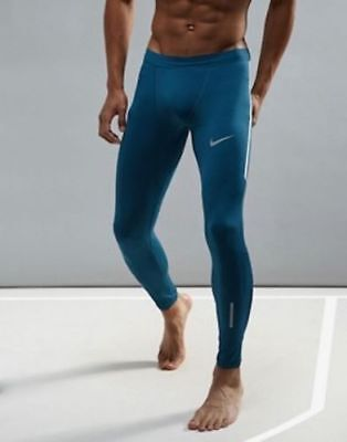 54707c92e992 857845-425 New with tag MEN S NIKE Dri-fit tech tights running Pants Blue