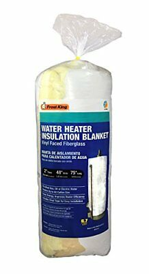 """Frost King R6.7 SP56/67 Water Heater Insulation Blanket, 2""""Thick x 48"""" x 75"""""""