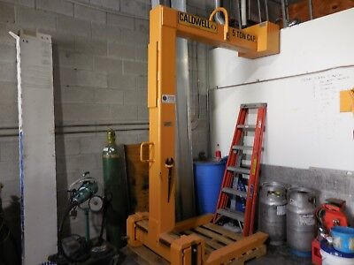 *****caldwell Pallet Forks Adjustable 10000 Pound Capacity For Crane*****
