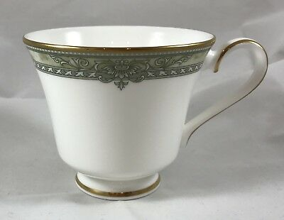 Royal Doulton Isabella Cup (s) H5248 Green Marbled Band Gold Trim
