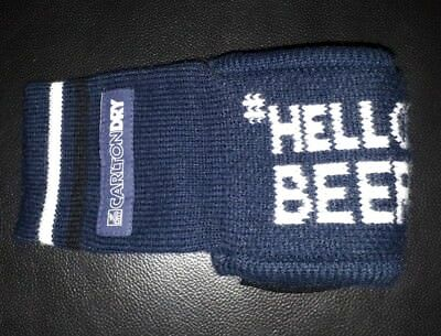 Rare Collectable Carlton Dry Beer Woollen Glove Stubby Holder In Great Condition