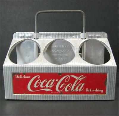 Vintage Aluminum COCA COLA Coke 6 Pack Bottle Carrier Tray Caddy 1950s 1960s