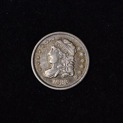 1833 5C Capped Bust Half Dime Us Type Coin