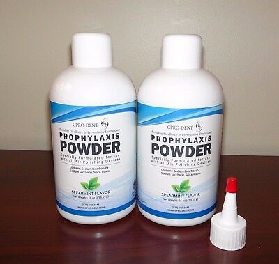 2 x 16 oz Prophy Powder - Non Clogging For use with all Air Polishing Devices