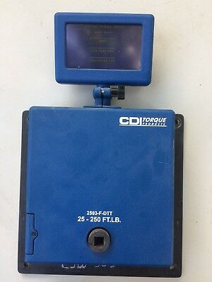 "SNAP ON / CDI TORQUE PRODUCTS 1/2"" 2503-F-DTT DIGITAL TORQUE TESTER 25-250ft.lb."