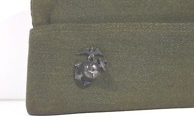 Early WWII Pilots Marine Corps Overseas Cap/Hat/Cover Pristine Imperial USMC EGA