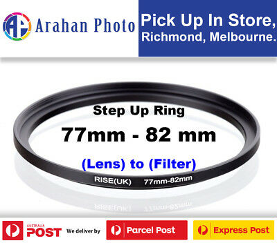 Step Up Ring 77-82mm Filter Lens Adapter 82mm Filter to 77mm Lens