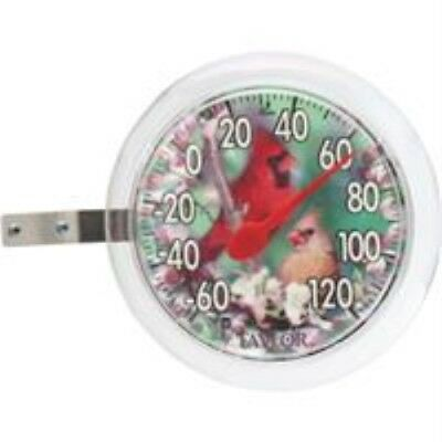"""Taylor Thermometer Indoor/Outdoor -60 To 120 Deg F 6"""" Dia. Clear"""