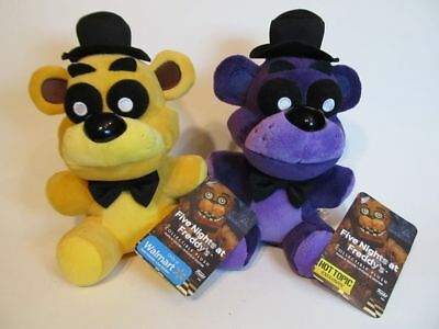 2PCS NEW FNAF Five Nights at Freddys PURPLE Shadow and GOLD Bears Doll Toy GZ28