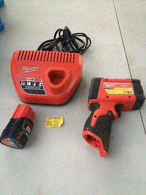 Milwaukee 2278-20 12:1 Infrared Temp Gun With M12 Charger And Battery