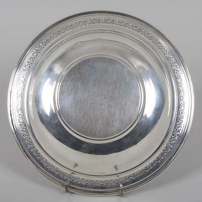Sterling silver dish with decorative border, marked ''Sterling'' approx 5.6 t.oz