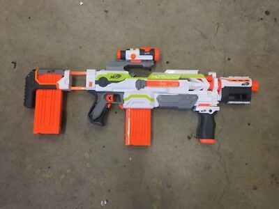 NERF N-strike Modulus ECS-10 Blaster Dart Gun Loaded With Extras