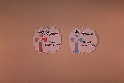 100 Gift Tags Baptism Christening Confirmation Personalized Holy Communion