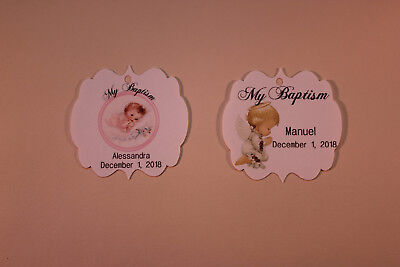 25 Gift Tags Baptism Christening Confirmation Personalized Holy Communion