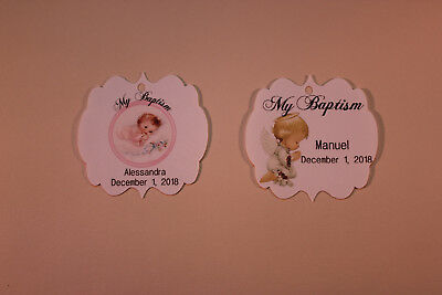 50 Gift Tags Baptism Christening Confirmation Personalized Holy Communion