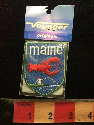 Voyager Brand Jacket Patch - State Of MAINE LOBSTER 70X3