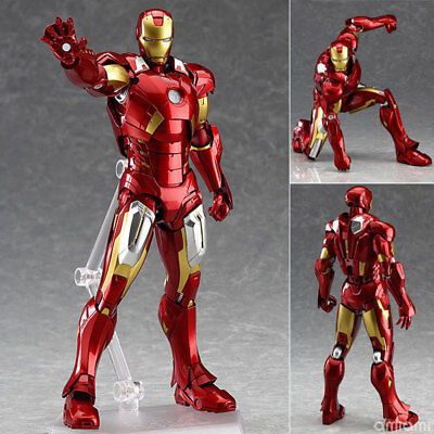 Marvel The Avengers Iron Man Max Factory Figma 217 PVC Action Figure Model Toy