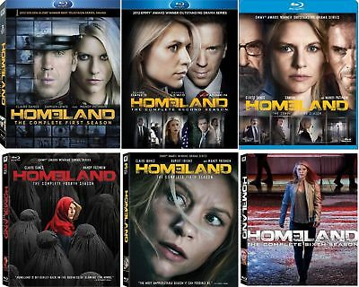 Homeland Claire TV Series Complete Seasons 1-6 BluRay Set Collection Episode Lot
