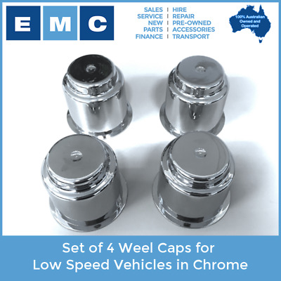 Wheel Caps for Low Speed Vehicles (Set of 4) - in Chrome