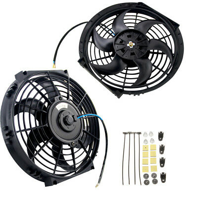 "Slim Universal 10"" 80W Engine Radiator Oil Cooling Electric Pull Push Fan Blades"