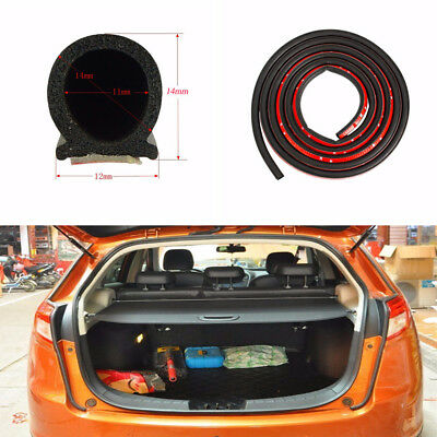 4M Car Door Trunk Engine D-Shape Black Rubber Seal Strip Soundproof Waterproof
