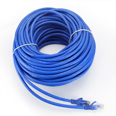 10-100ft Cat6 Network Cable RJ45 Ethernet Internet Net Lan Patch Wire Blue