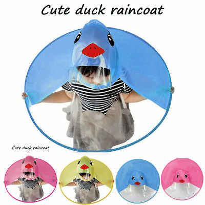 Cartoon Cute Rain Coat UFO Children Umbrella Hat Magical Hands Free Raincoat 8aebc7e169c7