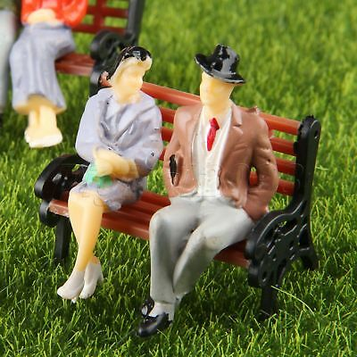 Hornby OO Gauge People Sitting on Park Benches 1:76 Scale Miniature Figures for Model Train Layouts R7119