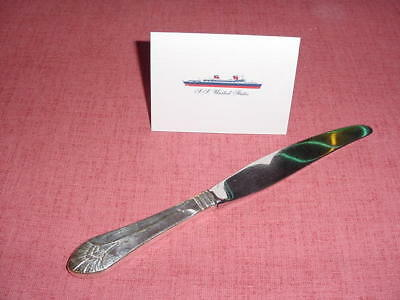 SS UNITED STATES LINES  Large Silver Dinner Knife