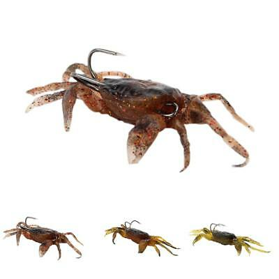 Soft Simulation Crab Bait Fishing Lure Bass Cod Wrasse Hook Baits Tackle 8cm New