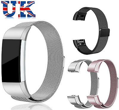 For Fitbit Charge 2 Strap Replacement Milanese Loop Band Stainless Steel Magnet!