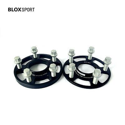 2PC 10mm Hub Centric Black Wheel Spacers for Porsche 911 Aluminum 7075T6 Forged