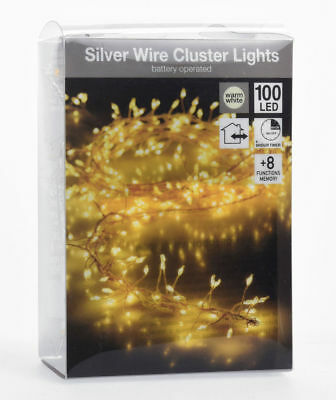 CLUSTER LICHTERKETTE 560 LED mit App Bluetooth Timer Dimmer ...