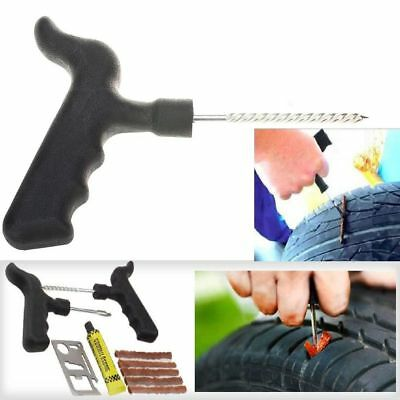 Tire Repair Plug Tyre Vehicles Motorcycle Car Kit Tool Rubber Solution Strips CN