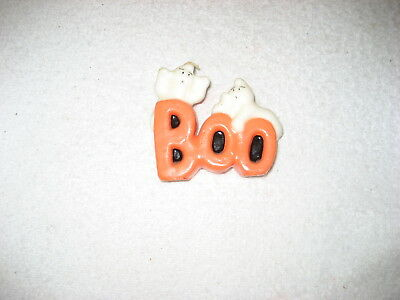 Vintage Halloween candle, ghosts and boo