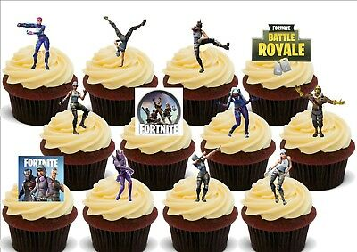 Fortnite Dancing Dancers Mix - 12 Edible Stand Up Premium Card Cake Toppers