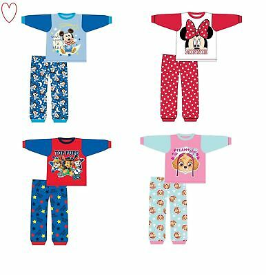 Boys Girls Character Pyjamas Pjs Pajamas Sleepwear Toddler