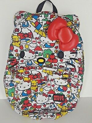 534a2ce0f LOUNGEFLY HELLO KITTY Classic Vintage Print Face Backpack with Red ...