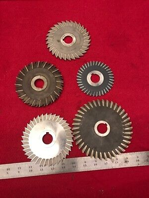 """Thin Milling Cutters (5) 4,5,6"""" w/ 1"""" Hole                   G-495"""