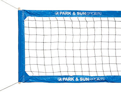 Park & Sun Blue BC-400 Pro Steel Cable Volleyball Net