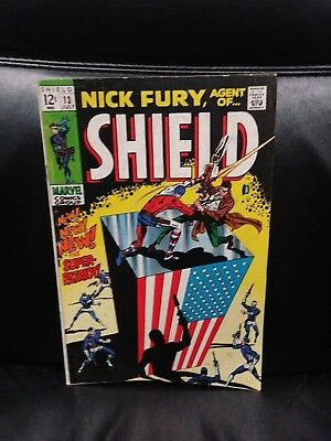 Nick Fury, Agent of Shield #13 (1969) , VG+ Shape - Marvel Comics