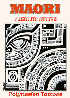 Maori polynesische Tattoo Vorlagen Flashbook Sketchbook Softcover Buch Book