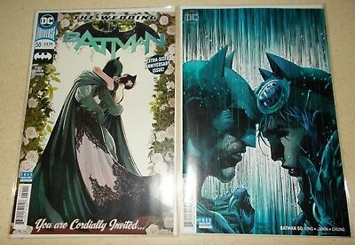 BATMAN #50 Covers A +JIM LEE Variant NM DC 2018 NM Catwoman King Wedding