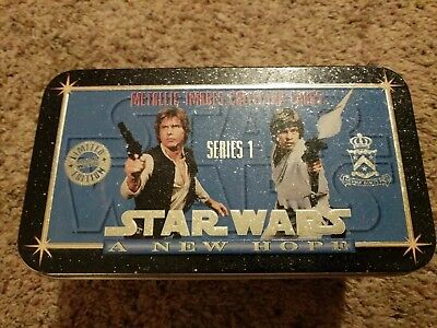 Star Wars A New Hope series 1 Metallic Images Collector Cards set (MWB) 1994 COA
